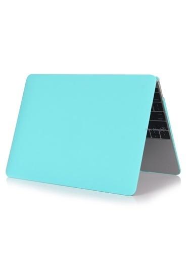 """Mcstorey MacBook Pro A1286 15.4"""" Kılıf Kapak Koruyucu Ruberized Hard Incase Mat Turkuaz"""